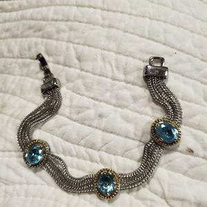 Ladies blue topaz bracelet